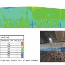 Hypsometrický model skenování mostní opěrky
